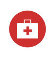 first aid kit bag icon vector image