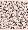 gentle flower seamless pattern with pink plants vector image vector image