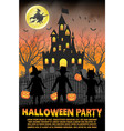halloween kids costume party in vector image
