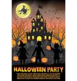 halloween kids costume party vector image vector image