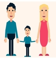Happy family color love friendship boy vector image