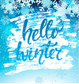 hello winter geeting card vector image vector image