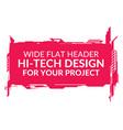 hi-tech wide element vector image vector image