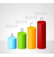 Infographic template with colorful cylinders vector image