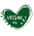 international day for vegetarians nov 1 vegan day vector image