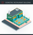 isometric restaurant house vector image