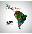 latin america map vector image