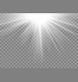 light ray flare isolated on transparent background vector image vector image