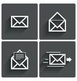 Mail icons Mail delivery sign Letter in envelope vector image
