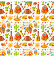 mexico seamless pattern background vector image vector image