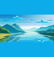 natural landscape mountains and lake beautiful vector image