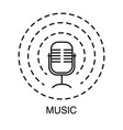 party music retro microphone isolated outline vector image