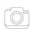 photo camera linear icon vector image
