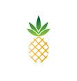 pineapple logo fruit sweet tropical health bio eco vector image