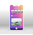 purple liquid background social app ui ux gui vector image vector image
