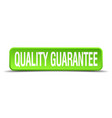 quality guarantee green 3d realistic square vector image vector image