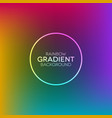 rainbow gradient background with ring shape vector image vector image