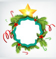 realistic christmas wreath template vector image