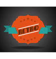 retro ribbon vector image vector image