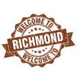 richmond round ribbon seal vector image vector image