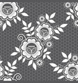 seamless retro floral wedding lace pattern vector image vector image
