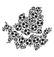 seoul city map composition of soccer spheres vector image vector image