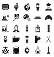 service staff icons set simple style vector image