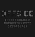 set alphabets fonts modern abstract design vector image