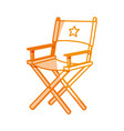 silhouette short film director sit vector image vector image