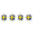simple made in sweden tillverkad i sverige vector image vector image