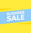 summer sale yellow and blue banner vector image vector image