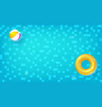 swimming pool top view horizontal pool vector image