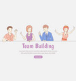 team building web banner template corporate team vector image vector image