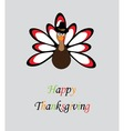 thanksgiving turkey vector image vector image