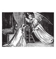 the annunciation gabriel appears to mary vintage vector image vector image