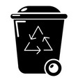 trash wheelie bin icon simple style vector image vector image