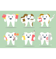 unhealthy teeth set vector image