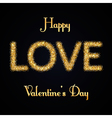 valentines day gold love vector image vector image