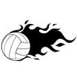 volleyball flaming ball cartoon vector image vector image