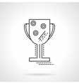 Winner cup flat line design icon vector image