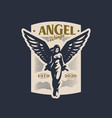 woman angel with wings takes off vector image vector image