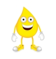 yellow drop cartoon drop icon image vector image