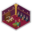 casino isometric interior vector image