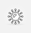 virus bacteria concept icon or symbol vector image