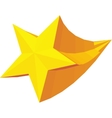 Golden star award icon isometric 3d style vector image