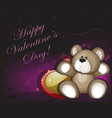 teddy bear and hearts vector image