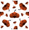 happy halloween pumpkin seamless pattern vector image