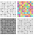 100 finance icons set variant vector image vector image