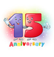 15 anniversary funny digits vector image vector image