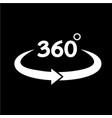 360 degree icon vector image
